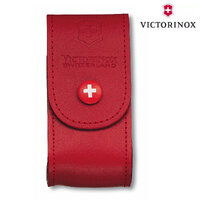 New Victorinox SWISS ARMY Knife 5-8 Layer RED Leather Pouch Sheath