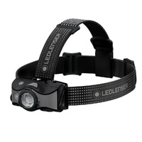New LED LENSER MH7 Head Torch Headlamp - BLACK & GRAY 600 Lumens AUTH AUS SELLER