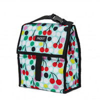 NEW PACKIT PERSONAL COOLER LUNCH BAG FREEZE AND GO - CHERRY DOTS PACK IT USA DESIGN