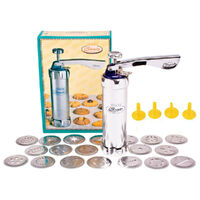 New SHULE Deluxe Cookie Press & Icing Set Incl 20 Biscuit Patterns