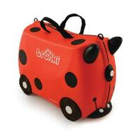TRUNKI Ride on Kids Suitcase Luggage Toy Box HARLEY LADYBUG