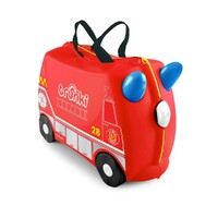 TRUNKI Ride on Kids Suitcase Luggage Toy Box FRANK FIRE ENGINE