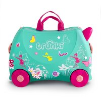 New TRUNKI Ride on Kids Suitcase Luggage Toy Box  - FLORA THE FAIRY
