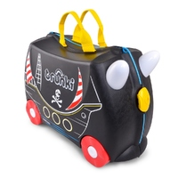 TRUNKI Ride on Kids Suitcase Luggage Toy Box PEDRO PIRATE