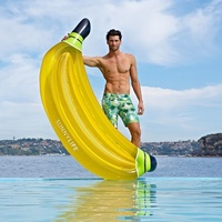 NEW SUNNYLIFE BANANA Lie on Luxe Inflatable Pool Toy Garden Beach Big Large Yellow