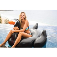 SUNNYLIFE BLACK SWAN Huge Giant Inflatable Pool Toy Garden Beach Super Size W/ Handles