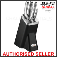NEW GLOBAL NI 6 Piece Knife Block Japanese Kitchen Knives 6pc