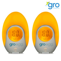 2 Pack x Gro Company GRO EGG Room Digital Temperature Thermometer & Night Light AUS Model
