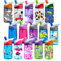 CAMELBAK KIDS EDDY .4L 400ML BPA FREE SPILL PROOF WATER BOTTLE - ASRTD COLOURS