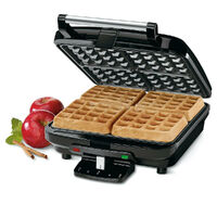 NEW CUISINART BELGIAN ELECTRIC WAFFLE MAKER 4 SLICE NON STICK 46946 FREE POSTAGE