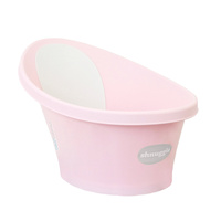 Shnuggle Baby Bath w/ Backrest & Bum Bump Support Rose Pink Free Ship