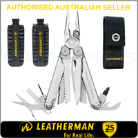 LATEST 2018 Leatherman WAVE PLUS + Multi Tool & Sheath & Bit Kit AUTH AUS DEALER