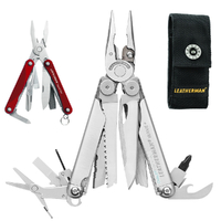 LATEST 2018 Leatherman WAVE PLUS + Multi Tool & Sheath Squirt RED AUTHAUSDEALER