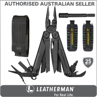 New Leatherman BLACK WAVE PLUS + MultiTool & Sheath & Bit Kit & Extender