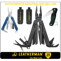 LATEST '18 Leatherman BLK WAVE PLUS + MultiTool & BitKit & Crater & Squirt BLU