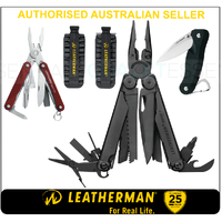 LATEST '18 Leatherman BLK WAVE PLUS + MultiTool & BitKit & Skeletool Knife & Squirt RED