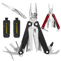 2018 Leatherman CHARGE PLUS + Multi Tool & Bit Kit & C33 Crater & Squirt RED