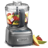 NEW CUISINART Mini prep 4 Cup Processor Blender Mixer Chopper METAL GREY 46824