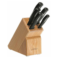 New SCANPAN 6pc MICROSHARP 6 Piece Kitchen Knife Block Set 18586