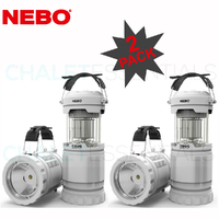 NEBO Z-BUG 2 PACK LED Mosquito Zapper Lantern & Spotlight Indoor Outdoor 89524