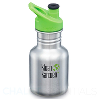 NEW KLEAN KANTEEN KID 355ml 12oz SPORTS BRUSHED STAINLESS BPA FREE Water Bottle SAVE !