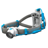 LED LENSER NEO10R Head Torch RECHARGEABLE Headlamp  - BLUE 600 Lumens