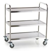 "SERVING UTLITY TROLLEY 3 SHELF STAINLESS STEEL COMMERICAL KIT ""FREE POSTAGE"" 548"