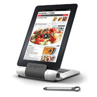 NEW PREPARA IPREP IPAD TABLET STAND AND STYLUS - WHITE  / CHARCOAL FREE POST 76090