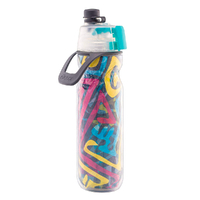 NEW 02 Cool Mist 'N Sip 20oz 590ml Water Drink Bottle WATERCOLOUR 02COOL O2COOL