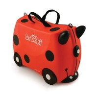 NEW TRUNKI RIDE ON SUITCASE TOY BOX CHILDREN KIDS LUGGAGE - HARLEY LADYBUG RED