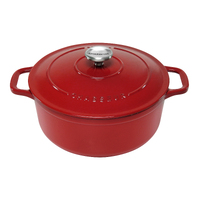 NEW Chasseur Round French Oven 26cm / 5.2 Litre Red - Made in France
