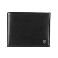 NEW VICTORINOX ALTIUS EDGE ZENON LEATHER SLIM BI-FOLD MEN'S WALLET - BLACK RFID PROTECTION