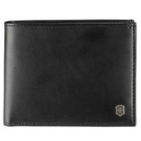VICTORINOX ALTIUS EDGE APPOLONIOS MEN'S LEATHER BI-FOLD WALLET - BLACK COLOUR SAVE