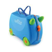 NEW TRUNKI RIDE ON SUITCASE TOY BOX CHILDREN KIDS LUGGAGE - TERRANCE BLUE SAVE !