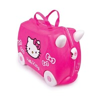 NEW TRUNKI RIDE ON SUITCASE TOY BOX CHILDREN KIDS LUGGAGE - HELLO KITTY PINK