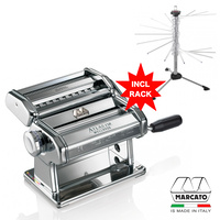 MARCATO ATLAS WELLNESS PASTA MAKING MACHINE 150MM 2700 + DRYING RACK 2760