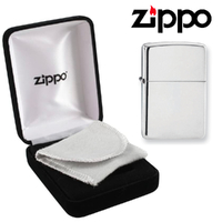 New Zippo 15 High Polish Sterling Silver Lighter + Velour Gift Box