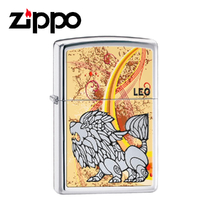 New Zippo High Polish Chrome Zodiac Lighter - Leo