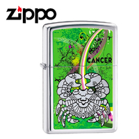 New Zippo High Polish Chrome Zodiac Lighter - Cancer