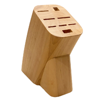 NEW Mundial 8 Slot Beechwood Knife Block - EMPTY (no knives)