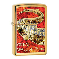New Zippo Genuine Brass Fusion Finish Great Wall of China Lighter