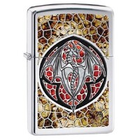 New Zippo Ann Stokes High Polish Chrome Dragon Fusion Lighter
