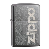 New Zippo Black Ice Logo Lighter