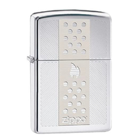 New Zippo High Polish Chrome Chimney Lighter