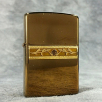 New Zippo Bronze Brass Topaz Ivy Lighter
