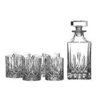 Royal Doulton Seasons Crystalline Whiskey Decanter Set - Decanter + 6 Tumblers