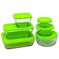 Kitchen Classics 12pc Glass Storage Food Container Set w/ Lid 12 Piece