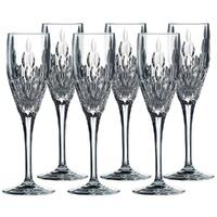 Royal Doulton Retro Crystal Stemware Champagne Flute 150ml , Set Of 6 Glasses