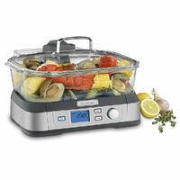 Cuisinart STM-1000A 5L Cookfresh Digital Electric Glass Steamer w/ Tray & Timer