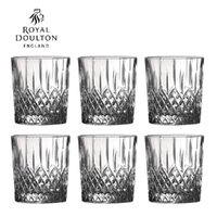New Royal Doulton Earlswood Crystalline Whiskey Tumbler 275ml Set of 6
